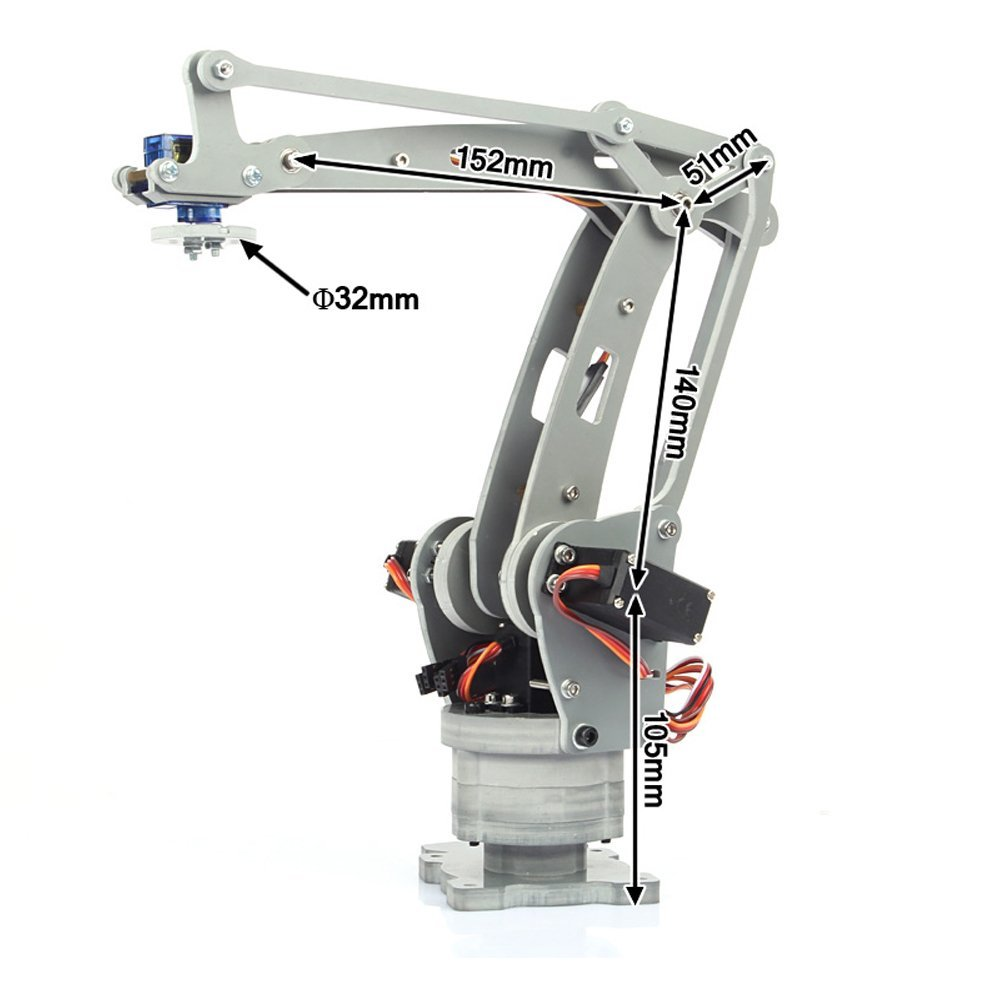 irb460 4-Axis Industrial Robot DIY Control Palletizing Robot Arm Model for Arduino UNO MEGA2560 with Power Supply + Controller adeept diy electric new project lcd1602 starter kit for arduino uno r3 mega 2560 pdf free shipping book headphones diy diykit