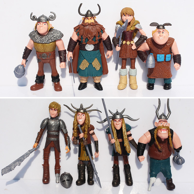 1 Set 8pcs/let How To Train Your Dragon Action Figure Toys Dolls Gifts For Children Christmas Gifts Free Shipping 20cm large pvc figure how to train your dragon 2 night fury animiation toys doll retails cartoon model child gift