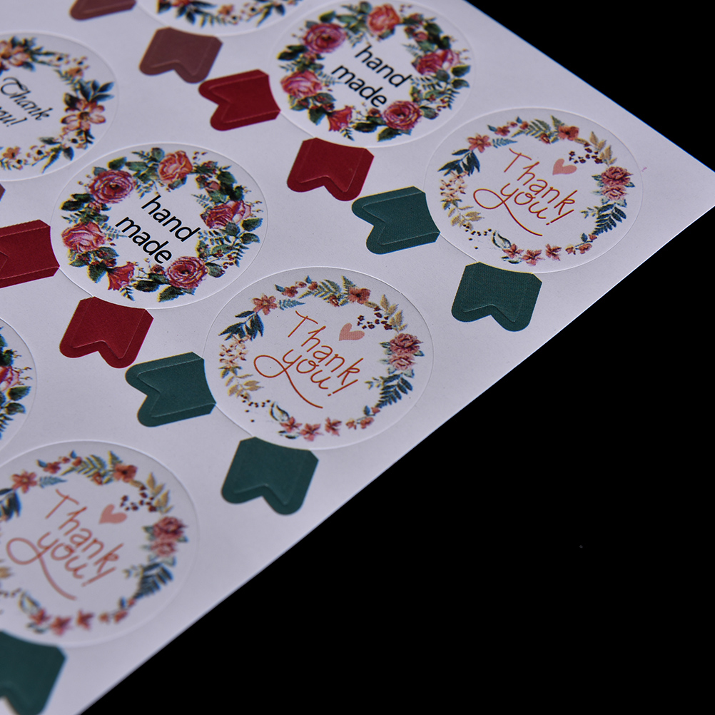 Купить с кэшбэком Best Selling 60pcs/lot DIY Vintage Handmade Stickers Kraft Label Sticker 5 Sheets Hand Made For Gift Cake Baking Sealing Sticker