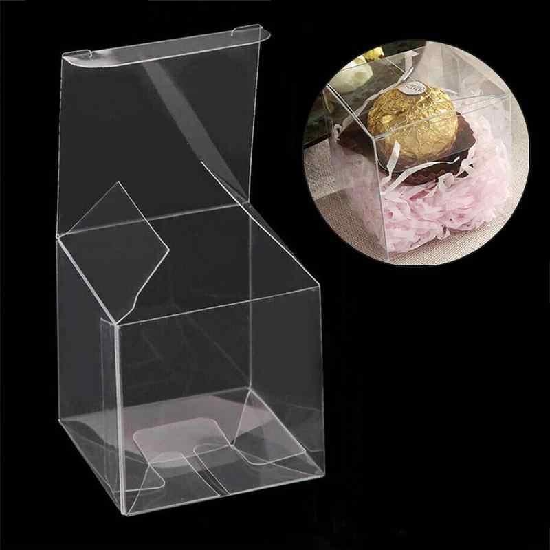 ホット販売透明なプラスチック収納ボックスジュエリーオーガナイザーケースコインイヤリングネックレス収納化粧品オーガナイザー Rangement