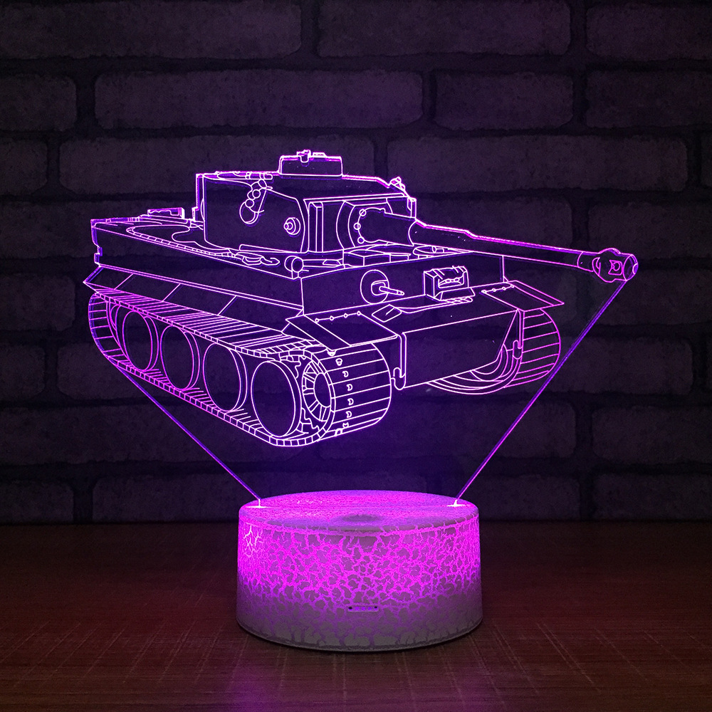 Us 1366 40 Offtank Crack White Lamp Base 3d Led 7 Colors Burst Led Night Lamp For Kid Touch Led Usb Table Baby Sleeping Nightlight Room Lamp In