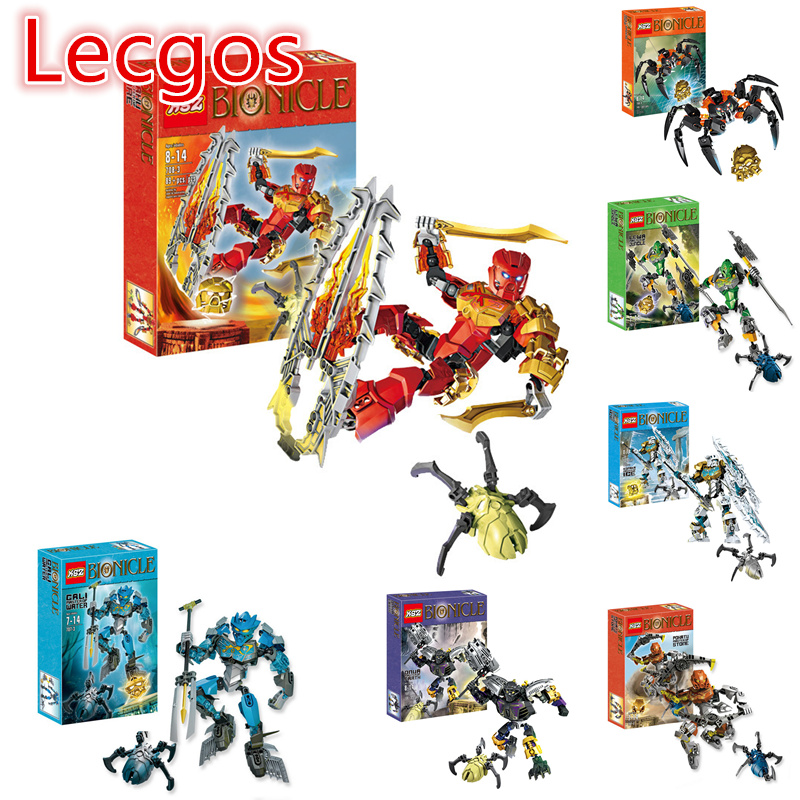 Lecgos Bionicle Stone Keeper Building Blocks Assembled Toys Boy  Early Learning Plastic Blocks Children Gift compatible Lecgos bionicle максилос и спинакс