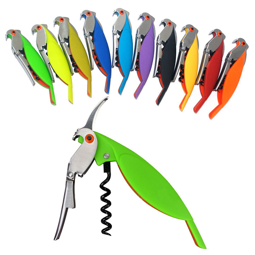 High Quality Professional Wine Opener Multi-functional Parrot Screw Corkscrew Wine Bottle Opener Sets For Kitchen Cook Tools