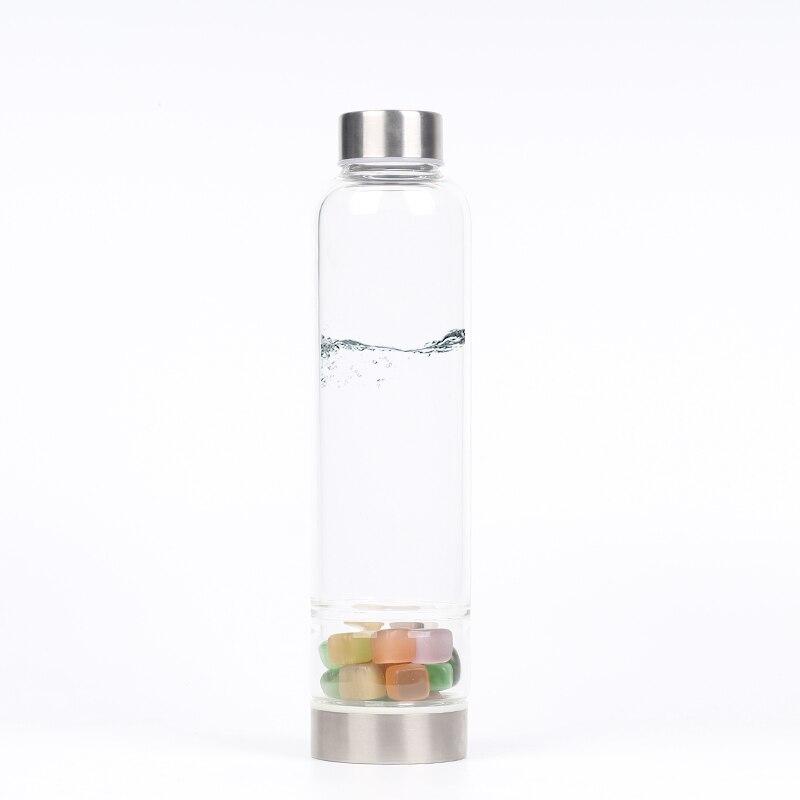 Naturel un oeil de chat pierre Quartz cristal verre bouteille d'eau gravier irrégulière pierre Point baguette guérison pierre concassée tasse