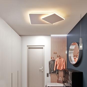 Ultra-thin brown/ white Rotatable Modern led Ceiling Lights For Living room Bedroom aisle corridor plafon led Ceiling Lamp