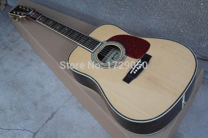 2017 Chinese Factory Custom New Classic d 4 5 acoustic Dreadnought guitar natural Solid spruce acoustic guitar in stock 917 in stock 2018 china factory hot 41 guitar pickguard hummingbird acoustic guitar pickguard 2mm thickness free shipping