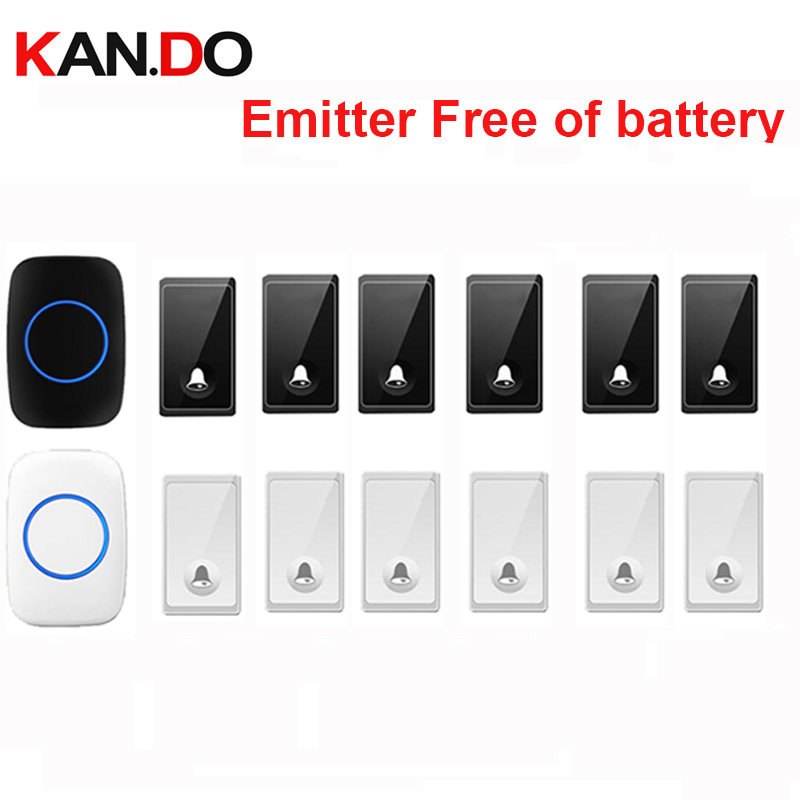 new bell set 6 push 1 receiver wireless door bell emitter free of battery wireless doorbell ip44 200M work chime door ringnew bell set 6 push 1 receiver wireless door bell emitter free of battery wireless doorbell ip44 200M work chime door ring