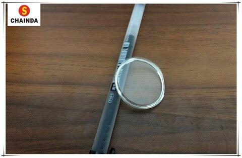 Plástico com Amarelo Anel para Reparação 1.0mm de Espessura Frete Grátis Cúpula Redonda Vidro – Pnp Tensão Relógio 68 Pçs