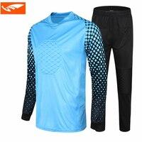 Survetement football jogging uniforms 2017 goalkeeper training suit kids soccer goalkeeper jersey sets doorkeepers football kits