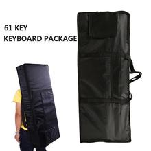 Black 61 Key Piano Keyboard Case Bag Electronic Music Carry Oxford Cloth Tote Music Keyboard Bag Piano Parts & Accessories