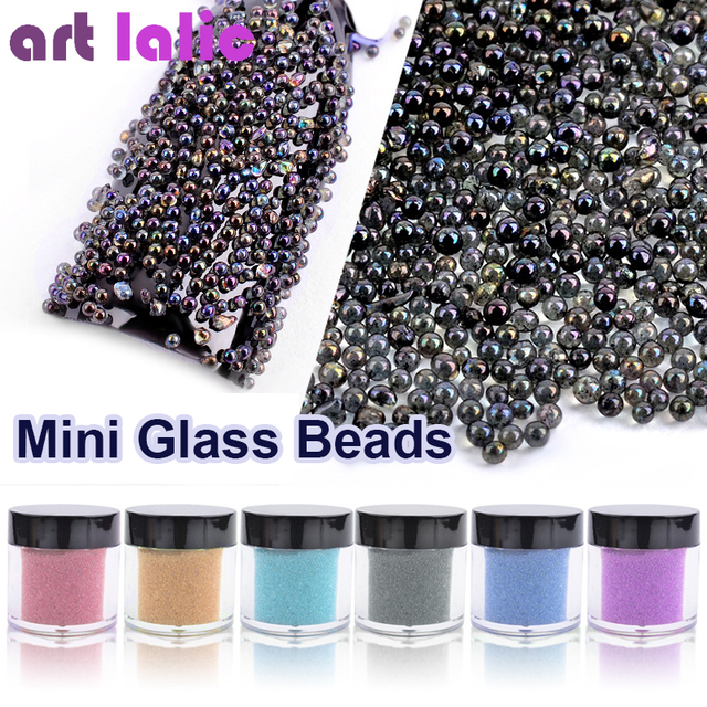 art lalic 1 box ab exquisite shine small glass beads jewelry nails
