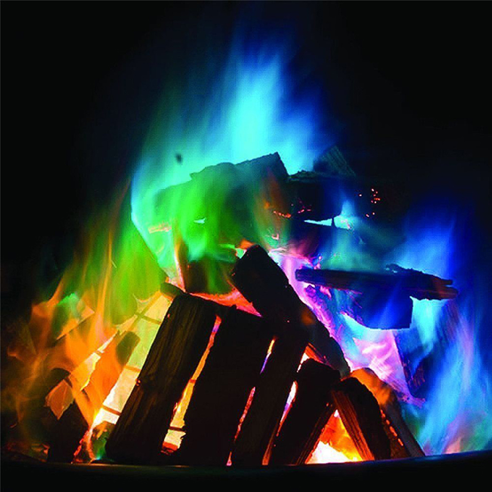 250g Hot Selling Mystical Colorful Fire Flame For Bonfire Campfire Party Festival Fireplace Coloured Flames Magic Tricks Classic Toys