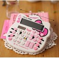 Hello Kitty Office Electronic Calculator Dual Solar Battery Powered Desktop Computer Calculadoras Cute Calculating Machion