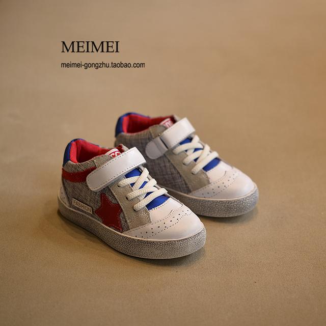 Outono inverno crianças shoes meninas estrela casual shoes crianças branco sports shoes para meninos respiráveis tênis da criança do bebê moda