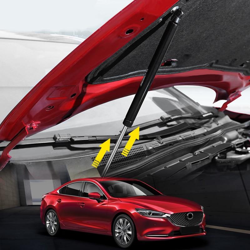 Pour Mazda 6 M6 Atenza 2013 14 15 16 17 2018 Inoxydable Car Styling Capot Moteur Tige de Support Hydraulique Capot pôles 2 *