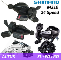 SHIMANO Bicycle Parts ALTUS MTB Mountain Bike Gear Shift Kits Crankshaft Sprocket 3X8 24 Speed Bike Accessories