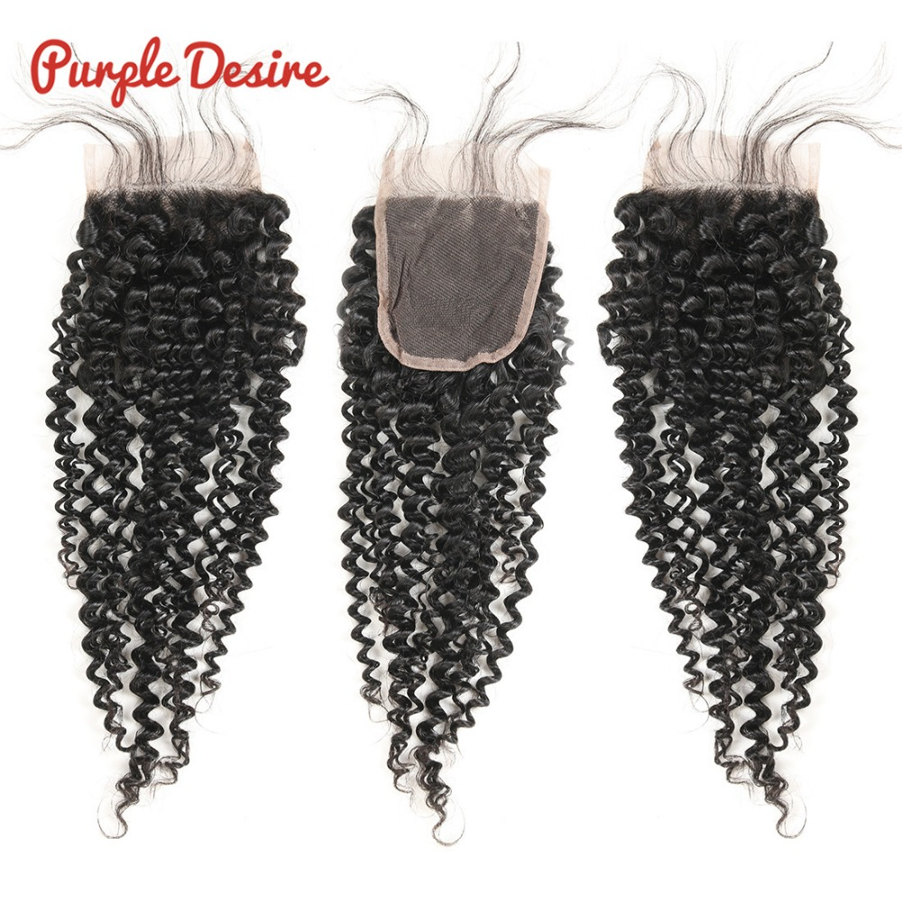 Brazilian Hair Weave Bundles with Closure Kinky Curly Hair with Closure 34 Bundles Remy Human Hair with Closure Swiss Lace (1)