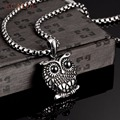 Vintage Owl Pendant Necklace For Men And Woman Fashion Stainless Steel 2016 New Famous Brand Jewelry Collier Femme
