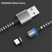 EGEEDIGI Magnetic Cable USB Type C 2A Fast Charging for Samsung S9 S8 Note9 Micro iPhone XS XR Charger cable