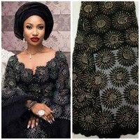 Нигерийская кружевная ткань 2018 высокого качества кружева африканский тюль кружева с камнями, нигерийские французские последние Африканск...