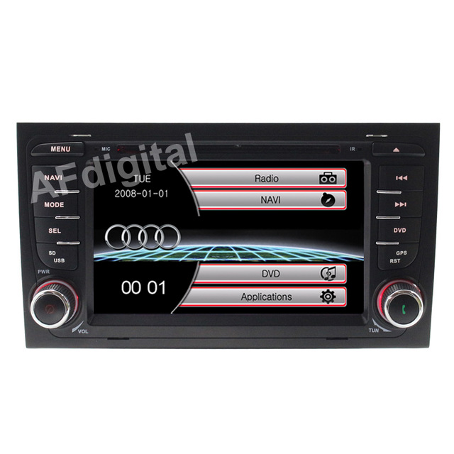 Wince 6.0 New Car DVD Player GPS Navi for Audi A4 2002 2003 2004 2005 2006 2007 S4 RS4 8E 8F B9 B7 RNS E Can Bus Ipod RDS USB SD