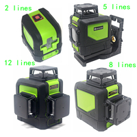 Green Laser Level Self Leveling 360 Horizontal Vertical Laser Beam 2/5/8/12 lines Laser Level 3D 360