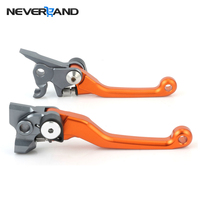 CNC Pivot Brake Clutch Levers For KTM 250SX F 250 SX F 2007 2013 Orange 2008