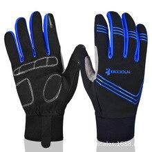 2017 New Winter Windproof Cycling font b Gloves b font MTB Bicycle Luvas Full Finger font
