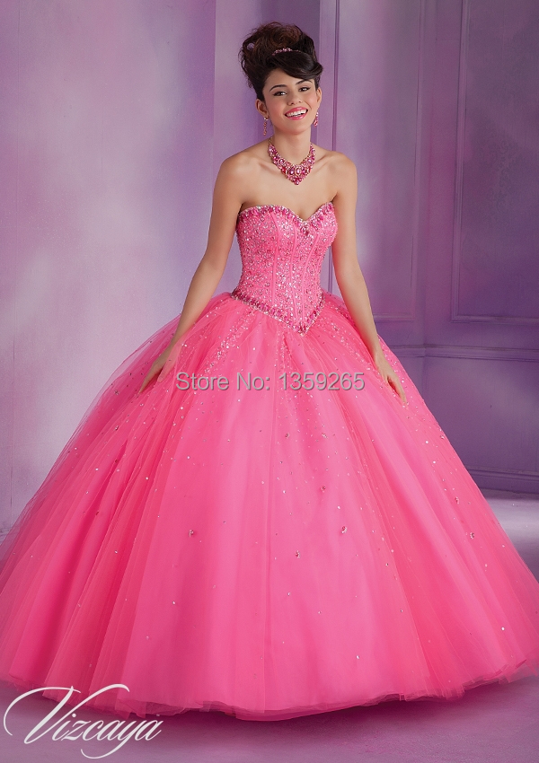 Nueva moda 2014 naranja Quinceanera Vestidos vestido De bola que ...