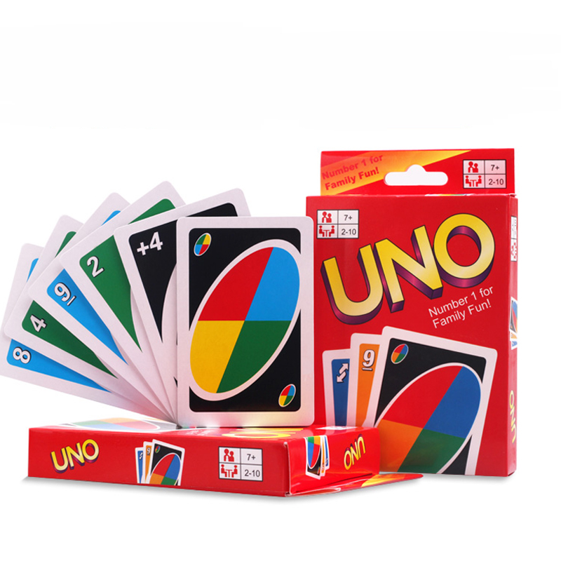 Popular World Player UNO Card Game Playing Card Family Fun Updated Version Fun 108Pcs Family Friend Travel Instruction