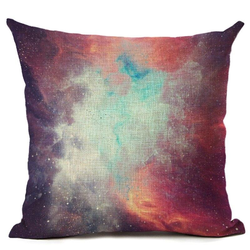7c960c27b9563a R$ 26.05 |Nebulosa céu estrelado capa de almofada criativa cojines almofada  almofadas decorativas caso colorido sofá chaise lounge moderno 45 cm em ...