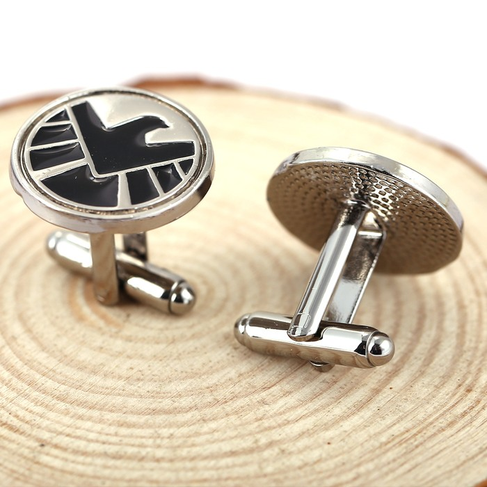 1 Pcs Agents of S.H.I.E.L.D. cufflinks shield badge pendant Marvel The Avengers logo sign movie jewelry for men wholesale GT658