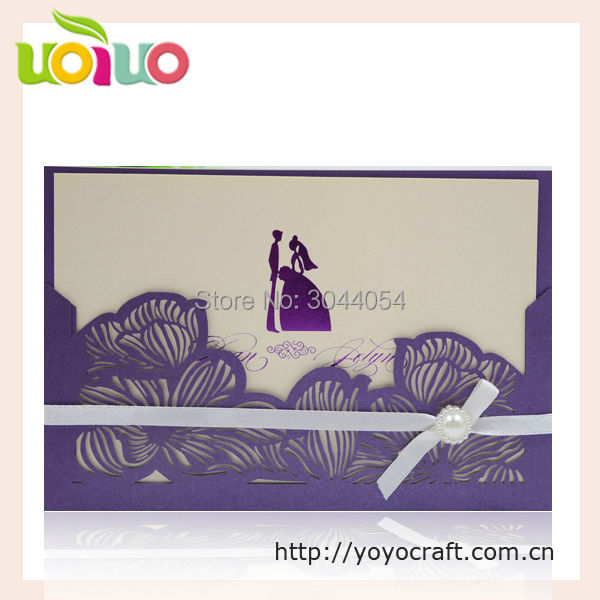 Us 56 5 Laser Cut Lotus Poket Wedding Invitation Card Design With Ribbon Luxury Wedding Invitation Card Matter In Marathi In Cards Invitations