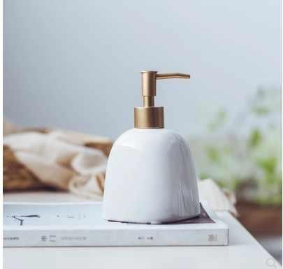 300-400ML 1 sztuk ceramiczne emulsji butelki dozowania złoty Preser przenośny dozowniki mydła Hotel Club Hand żel pod prysznic szampon butelka