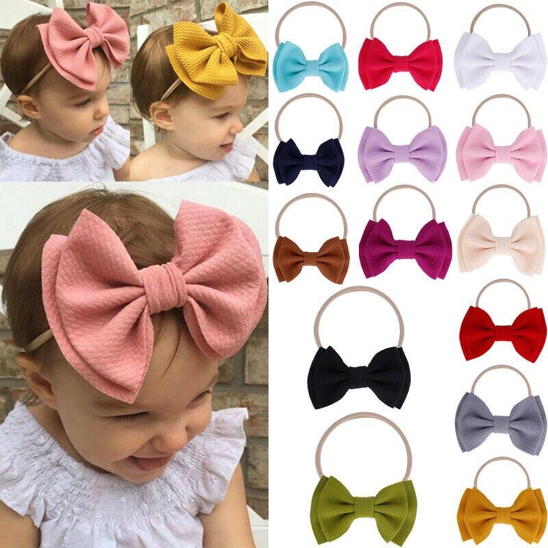 1 PC Infant Baby Girl Cute Bow Headband Newborn Headwear Headdress Hair Band