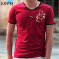 Free Shipping 2017 new summer brand clothing Cotton V Neck Man t-shirt Top Tees Shirt