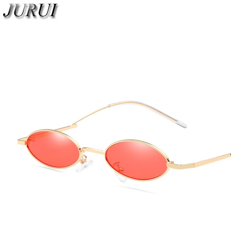 Kleine vintage ovale zonnebril Modemerk Dames Heren Metalen montuur - Kledingaccessoires