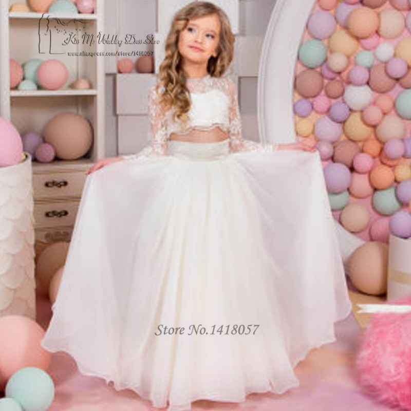 2 Piece Flower Girl Dresses