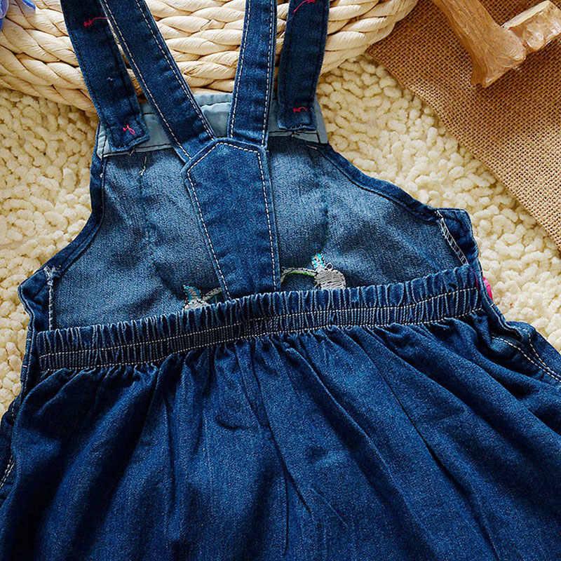 ... LCJMMO Baby Girl Denim Dress 2017 Summer Cartoon Pattern Girls Overalls  Sleeveless Sundress Kids Infant Clothes ... 50041c9f74cb