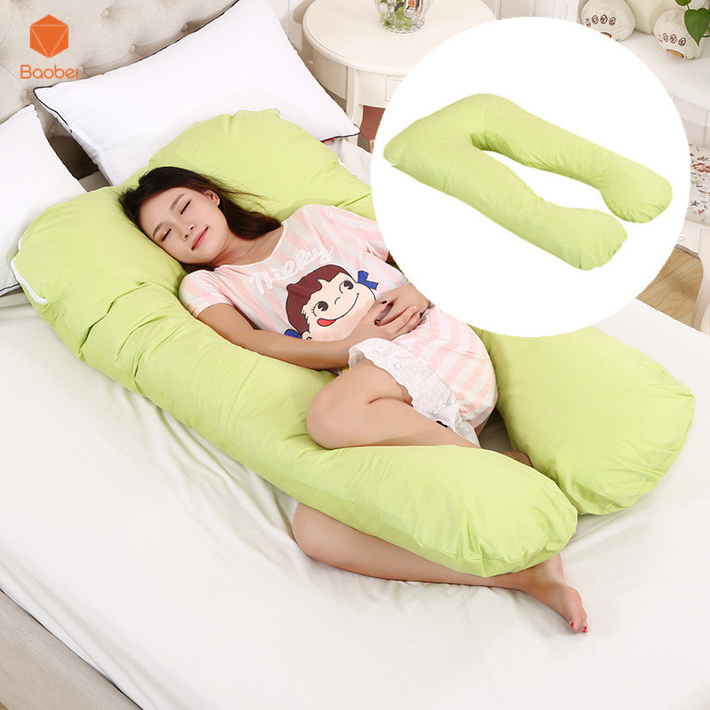Full Body Pregnancy Pillow Cover Large Pregnant U-Shaped Maternity Cushion Case