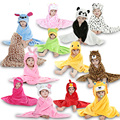 New Fashion Animal Cartoon Design Hooded Baby Sleepers Robes For 0-24 months Infant Sleepwear pijama pajamas Cute Homewear