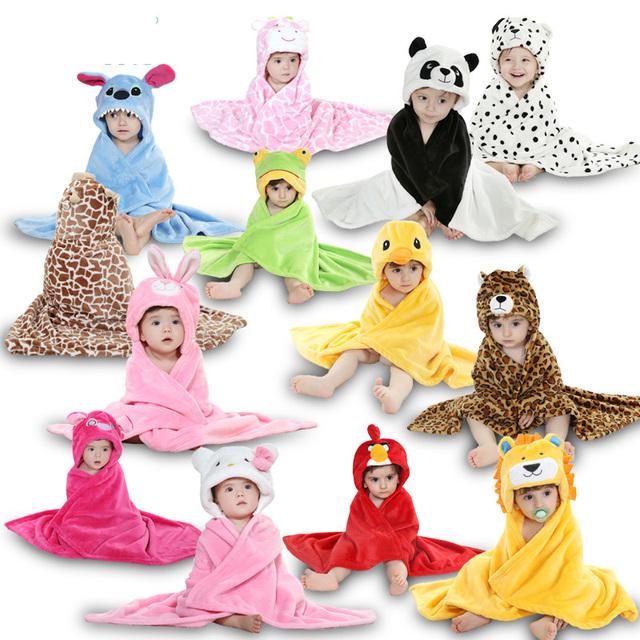 Nova Moda Animal Dos Desenhos Animados Projeto Do Bebê Com Capuz Robes Travessas Para 0-24 meses Infantil pijama Sleepwear pijama Homewear Bonito