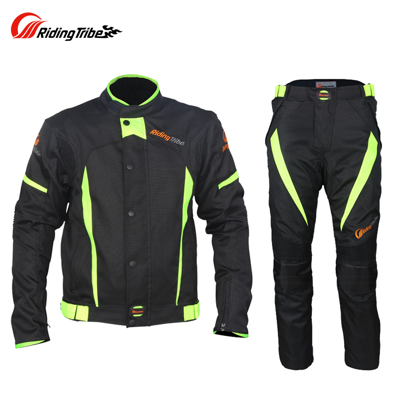 Riding Tribe Summer Winter Motorcycle Racing Jacket Pants Sets Men Windproof Waterproof Moto Travel Riding Suits