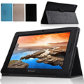 Smart protective leather cover case for Lenovo IdeaTab A7600-F A7600-H A10-80 A10-70 10.1 tablet stand flip case magnetic shell