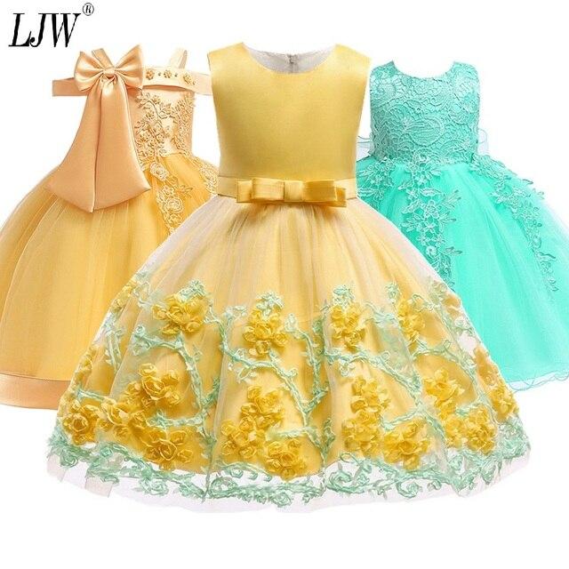 2019 ילדי טוטו יום הולדת נסיכת המפלגה שמלה עבור בנות תינוק תחרה ילדי שושבינה שמלה אלגנטית לילדה תינוק בנות בגדים