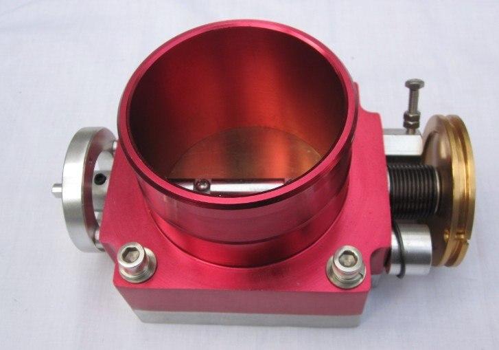Corps d'accélérateur rouge avec aluminium 70 MM/80 MM/90 MM/100 MM cou transmission solénoïde voiture style bâches de voiture bâche de voiture