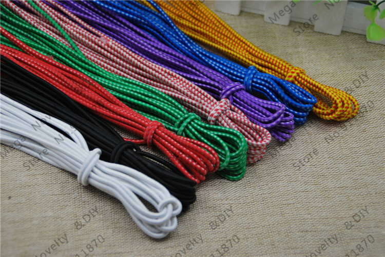 Free Shipping 5pcs/lot 4meters/pcs <font><b>2mm</b></font> Mixed colour Stretch <font><b>Elastic</b></font> Beading <font><b>Cord</b></font> / String / Thread / Diy Accessories DS322 image