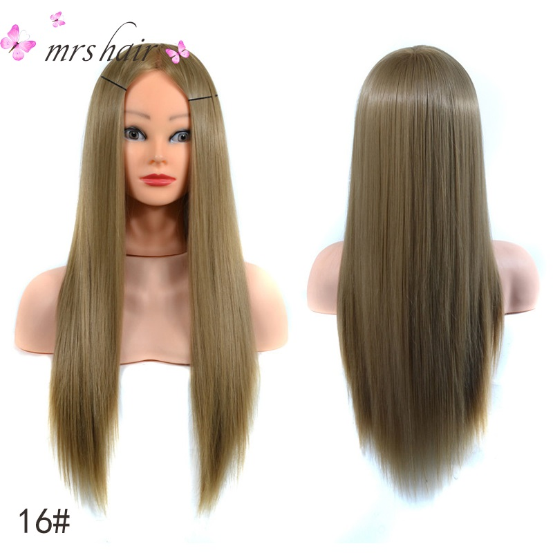 Best High Temperature Fiber Blonde Hair Professional Bride Hairdressing Mannequin Dolls Synthetic Hair Practice Training Head всепогодная акустика jbl control 28 1 black