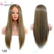 Mejor fibra de alta temperatura del pelo rubio profesional novia peluquería maniquí muñecas pelo sintético cabezal de entrenamiento de práctica