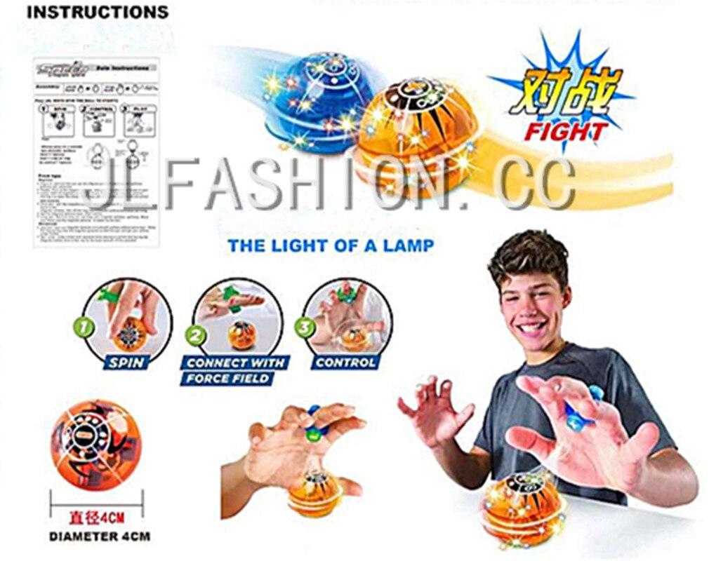 Fidget Decompression Finger Toys Magnetic Induction Finger Ball Lighting Finger Ball Children Adult Christmas Gifts